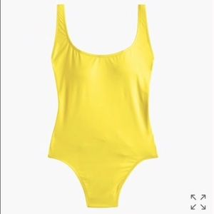 J. Crew Plunging Scoopback One-piece Swimsuit